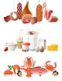 Cadres de nourriture Photographie stock libre de droits