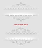 Cadres de papier décoratifs ornementaux Image libre de droits