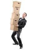 Cadres de papier de transport d'homme d'affaires Image libre de droits