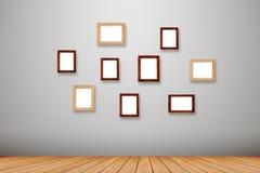 Cadres de photo de groupe sur le mur Image stock