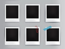 cadres de photo de vintage d'illustration avec l'ombre illustration stock