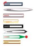 Cadres de recherche de vecteur pour le Web Photo libre de droits
