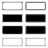 Cadres de rectangle Photographie stock libre de droits