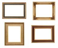Cadres de tableau d'or Photographie stock
