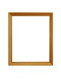 Cadres de tableau d'or D'isolement sur le fond blanc Photos libres de droits