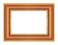 Cadres de tableau d'or sur le blanc Photographie stock libre de droits