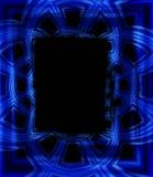 Cadres de tableau de photo dans le bleu Images stock