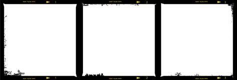Cadres de tableau moyens de bande de film de format illustration libre de droits