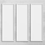 Cadres de tableau réalistes blancs Image libre de droits