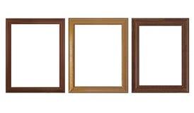Cadres de tableau vides en bois Image stock