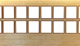 Cadres de tableau vides en bois Photographie stock libre de droits