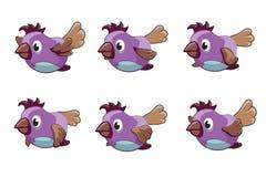 Cadres de vecteur d'animation d'oiseau Photo stock