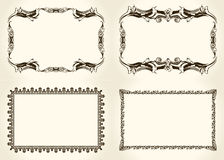 Cadres de vecteur réglés Éléments fleuris et de vintage de conception Photographie stock