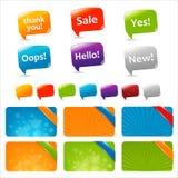 Cadres des textes de Web et bulles de la parole Photographie stock