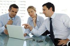 Cadres dirigeants de cadre commercial Photo stock