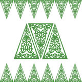 Cadres du baroque d'ornement de triangle Image libre de droits