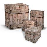 Cadres en bois pour l'expédition des marchandises Photographie stock libre de droits