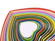 Cadres en forme de coeur colorés Image libre de droits