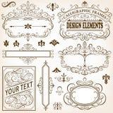 Cadres et éléments calligraphiques de conception II Image stock