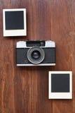 Cadres et appareil-photo de photo Photographie stock