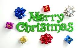 Cadres et proues de Joyeux Noël Photographie stock