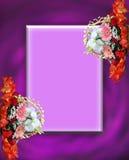 Cadres et trames floraux Images stock