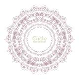 Cadres floraux colorés de cercle et de coeur Illustration de vecteur Image stock