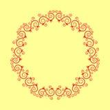 Cadres floraux de cercle coloré avec des remous Illustration de vecteur Images libres de droits
