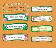 Cadres floraux et abstraits illustration stock