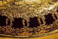 Cadres floraux et roses en bronze rustiques antiques Image libre de droits