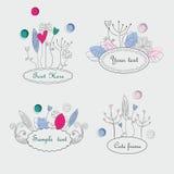 Cadres floraux mignons Photographie stock libre de droits