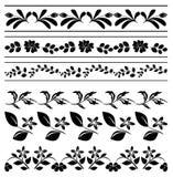 Cadres floraux - tracery noir - vecteur Photos libres de droits