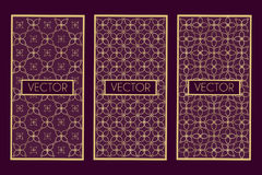 cadres géométriques d'or illustration libre de droits