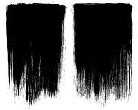 Cadres grunges de fond de course de brosse Image libre de droits