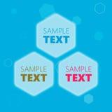 Cadres hexagonaux des textes Image libre de droits