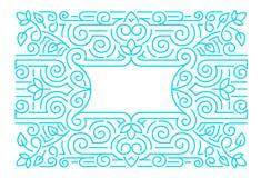 Cadres linéaires, calibre de conception Fond décoratif pour la carte de voeux dans le style ornemental illustration de vecteur