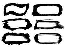 Cadres noirs de course de peinture Photo libre de droits