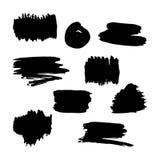 Cadres noirs tirés par la main de pinceau Photos libres de droits