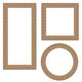Cadres ornementaux créatifs de corde Image libre de droits