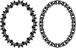 Cadres ovales Photo libre de droits