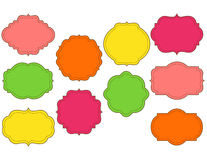 Cadres piqués colorés réglés Images libres de droits