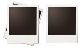 Cadres polaroïd de rétro photo instantanée d'isolement Photo libre de droits