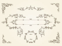 Cadres rectangulaires de frontière de vintage ornemental illustration de vecteur
