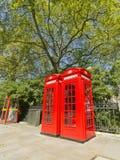 Cadres rouges de téléphone de Londres Images libres de droits
