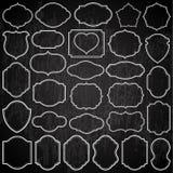 Cadres simples sur le tableau noir Images stock