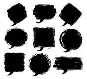 Cadres texturisés sales des textes de la parole de course de pinceau Image libre de droits