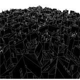 Cadres urbains abstraits de ville du vecteur 03 de cube Photos libres de droits