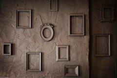 Cadres vides de vintage sur un fond sale Images libres de droits