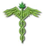 Caducée de marijuana Photographie stock