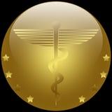 Caduceo médico Fotografía de archivo libre de regalías